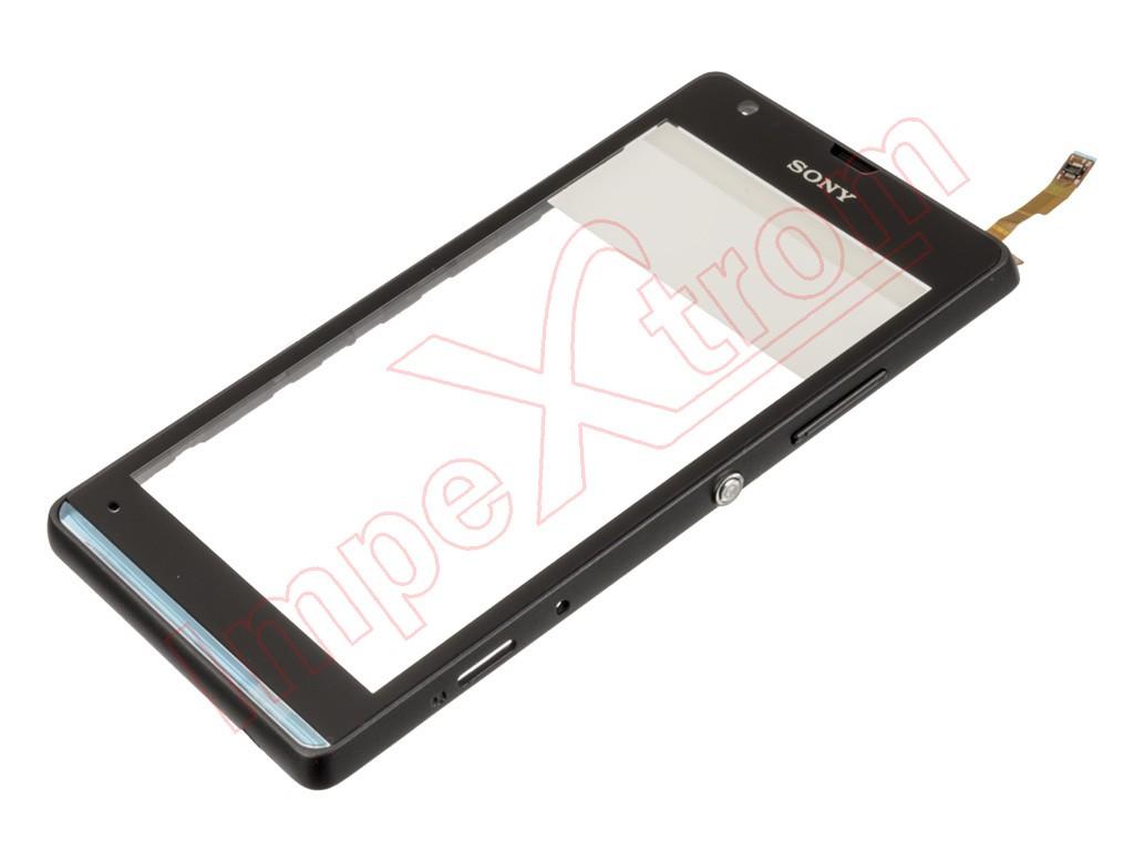 Pantalla táctil negra con marco Sony Xperia SP, M35H, C5302, C5303 ...