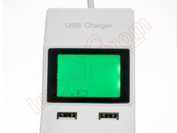 8 USB Ports Superfast Charging USB Charger with Display Screen