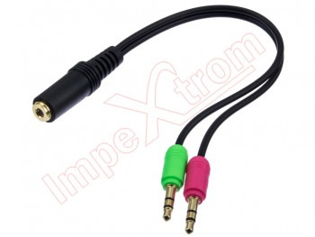 Adaptador jack doble de 3.5mm 4pin