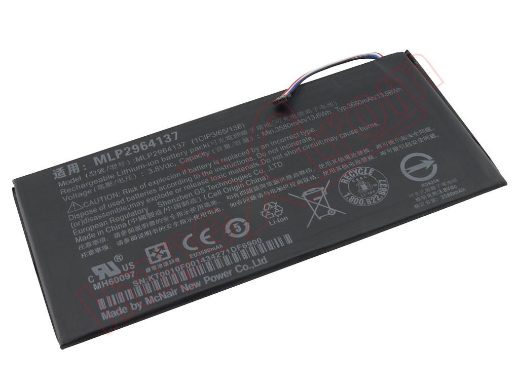 For Acer A1402 /& Iconia One 7 B1-730 B1-730HD Battery 3580mAh 3.8V MLP2964137