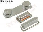 silver-set-buttons-for-apple-phone-5-5s