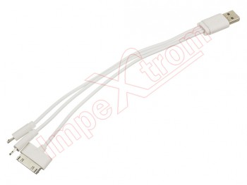 5c8d8041f41 Cable charger Apple Phone 5 e Phone 4, USB a Lightning, Apple 30 pines and  MicroUSB