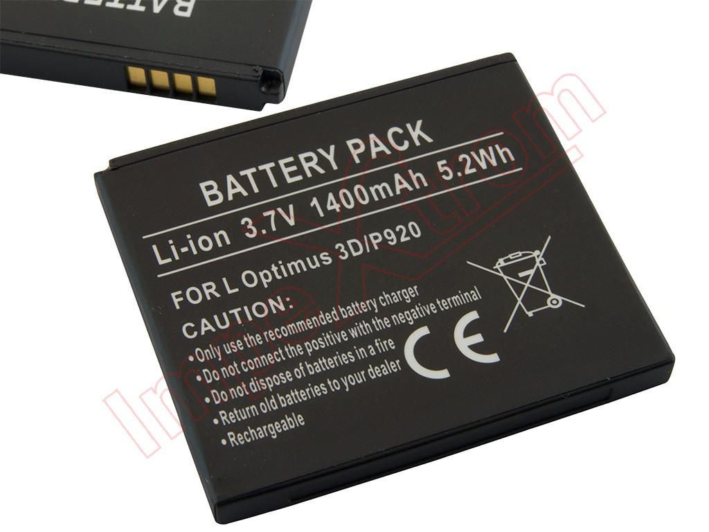 Batería LG Optimus 3D, Optimus 2X, LG P920, P925, P990, P993