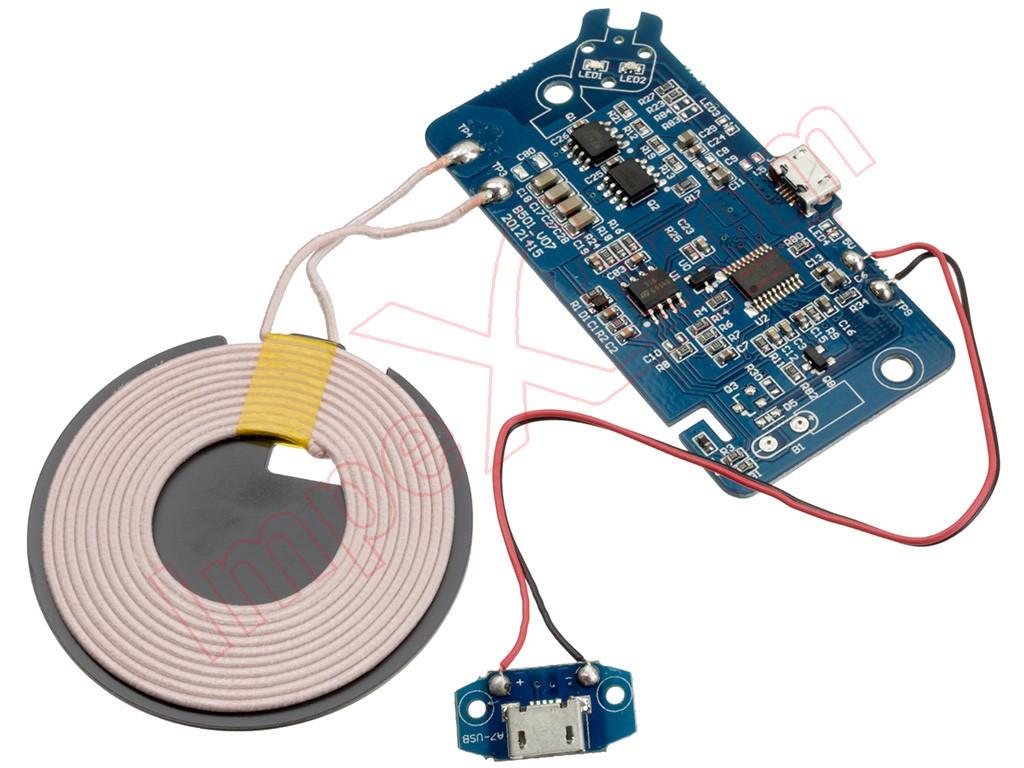 Circuito Y : Cargador inalámbrico qi con placa de circuito y bobina de carga