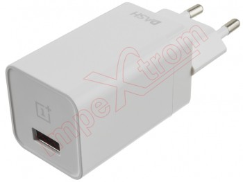 White Oneplus Dash DC0504B1GB fast charger for devices with usb 5V - 4A