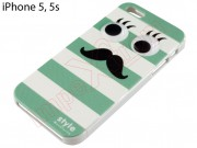 tpu-hard-case-moustache-design-with-green-and-white-stripes-with-moving-eyes-for-apple-phone-5-5s-se-in-blister