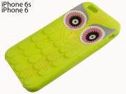 green-case-with-owl-design-for-apple-phone-6