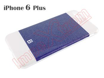 Case blue oscuro brillante of TPU for Apple Phone 6 plus