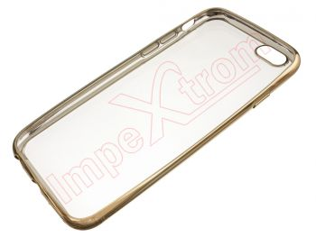 Transparent TPU case with gold frame for Apple Phone 6 / 6S