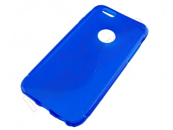 Funda TPU azul transparente para iPhone 6 / 6S