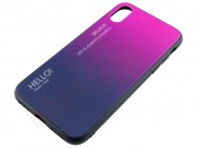 gradiaton-cover-pink-blue-glass-effect-rigid-case-for-iphone-x-xs
