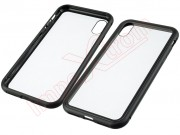 funda-magnetica-transparente-rigida-con-marco-negro-para-apple-iphone-x-xs