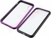 funda-magnetica-transparente-rigida-con-marco-negra-y-purpura-para-apple-iphone-x-xs