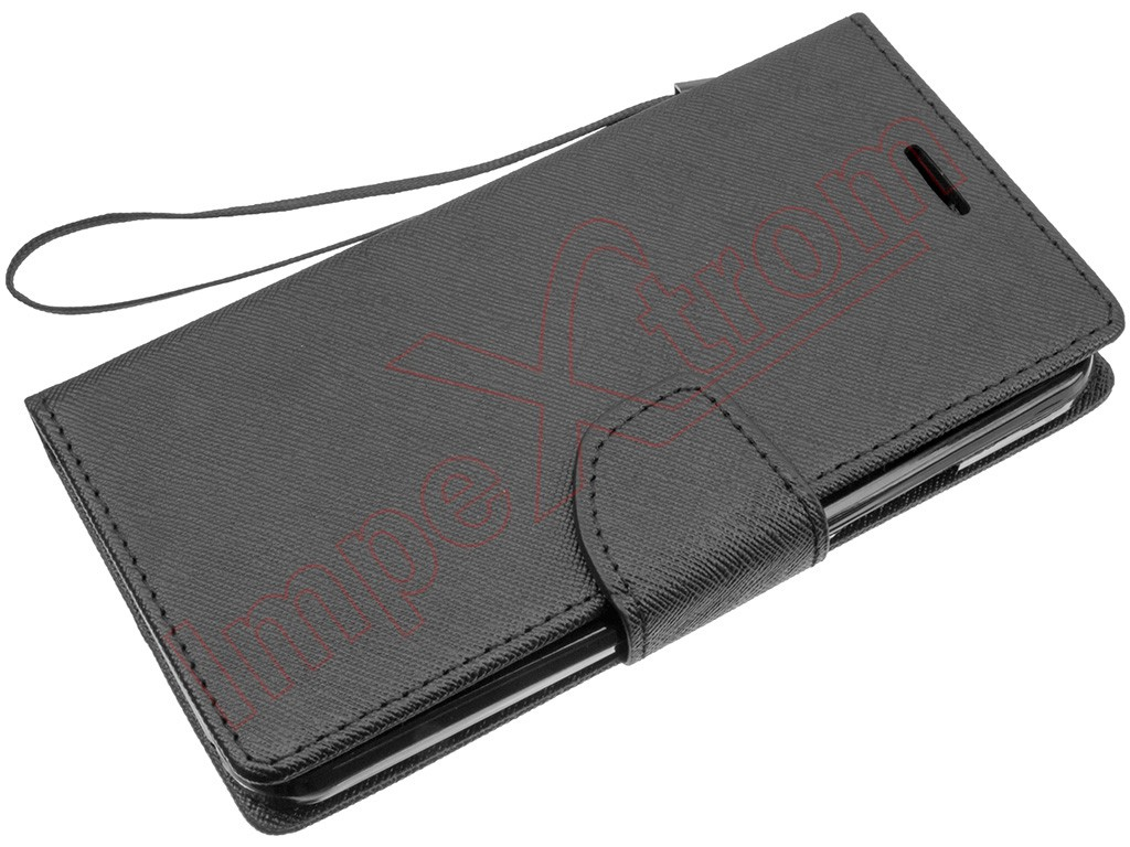 Black Case Tpye Diary For Lenovo Vibe C A2020 White