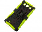 green-and-black-rigid-tpu-for-microsoft-n950-with-support