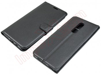 Black type book case for Oneplus 6