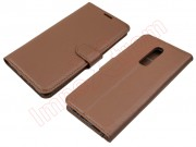 brown-type-book-case-for-oneplus-6