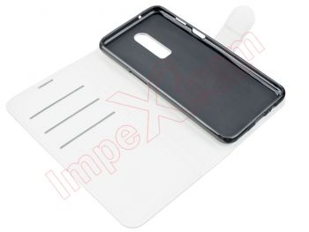 White type book case for Oneplus 6