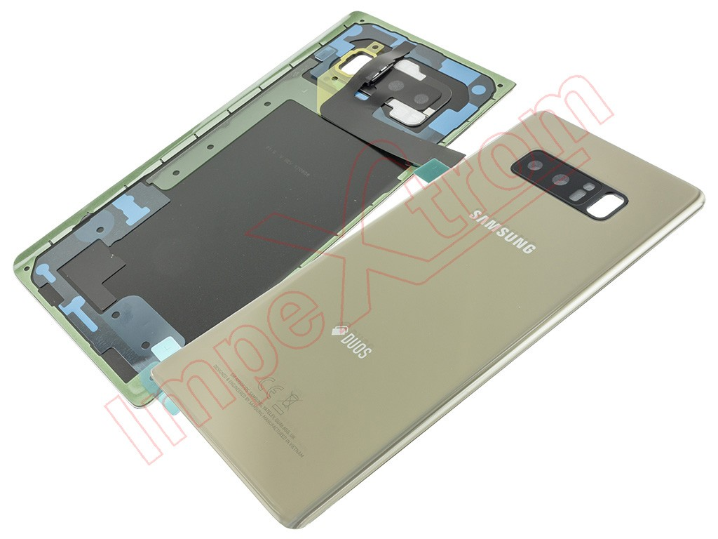 new styles 25165 e6808 Gold battery cover for Samsung Galaxy Note 8 Duos