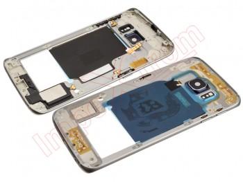 2abdaef6fa3 Carcasa trasera negra para Samsung Galaxy S6 Edge, G925F