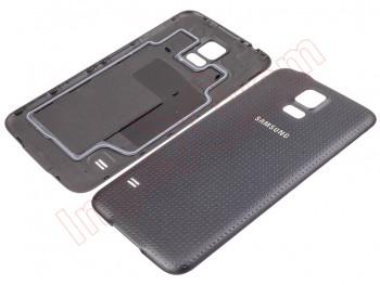 99448449e90 Carcasa trasera, tapa de batería negra para Samsung Galaxy S5, G900F