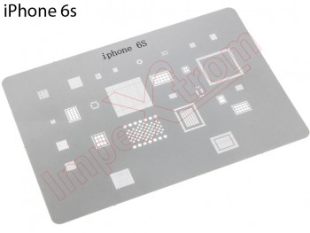 Metal welding / reballing template for iPhone 6S, A1633 / A1688 / A1700
