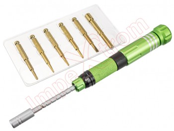 Precision screwdriver 6 in 1 Best-8927B green