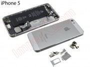 silver-back-cover-for-phone-5-with-components-remanufactured