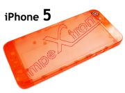 cover-of-battery-cover-back-apple-phone-5-red-transparente
