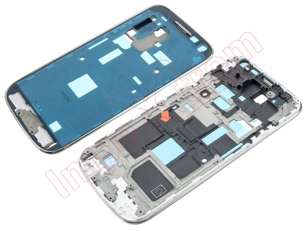 773c5536526 ... Samsung Galaxy S4 Mini. carcasa -chasis-central-blanco-blanca-con-marco-y-
