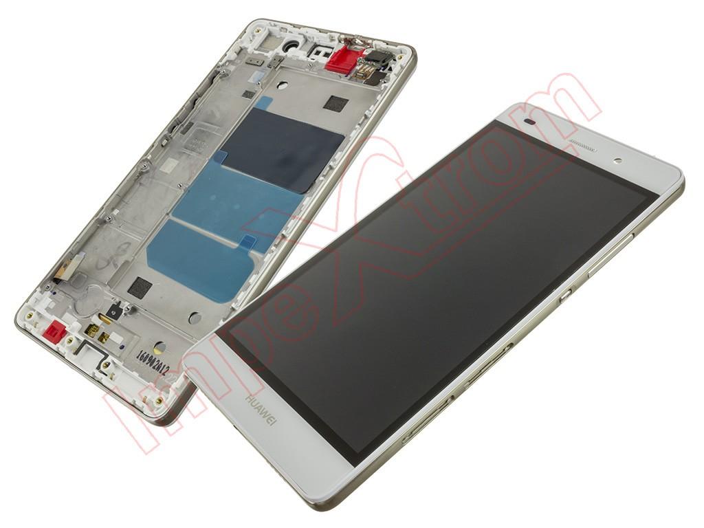 Pantalla completa blanca con carcasa frontal y marco para Huawei P8 ...