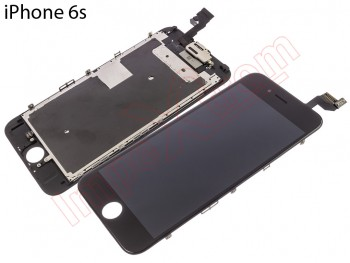 Pantalla completa (LCD/display + digitalizador/táctil) negra para iPhone 6S A1633, A1688, A1700