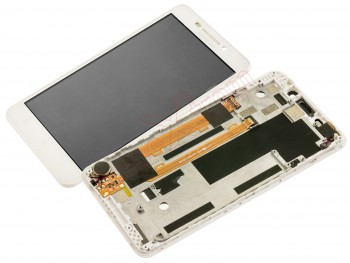 Full screen with housing for Lenovo A5000 white
