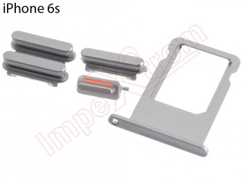 Sim card tray and buttons replacements for Apple Phone 6S grey
