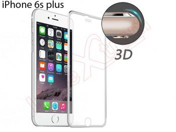 31dac30ac27 Protector de pantalla de cristal templado curvo con marco de aluminio  plateado para iPhone 6S Plus